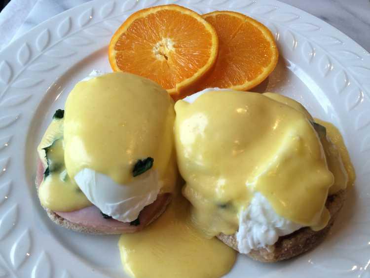 Ham and Spinach Eggs Benedict