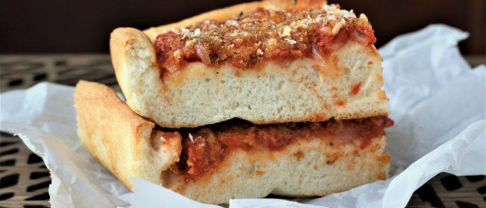 Sicilian Sfincione (Sicilian Style Pizza)