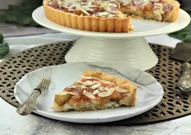 Rhubarb Ricotta Almond Tart