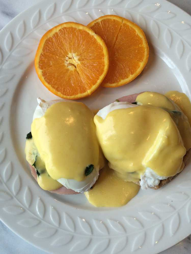 Ham and Spinach Eggs Benedict