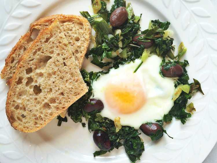 Fried Egg with Greens