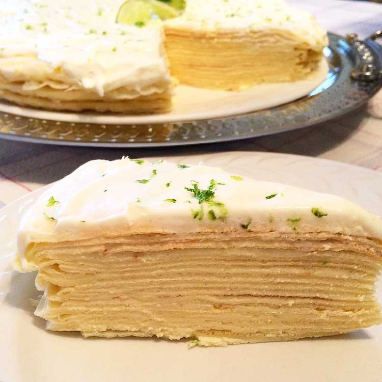 Key Lime Mascarpone Crêpe Cake