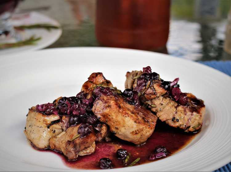 Veal with Blueberry Port Sauce