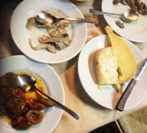 samples of Sicilian antipasto plates