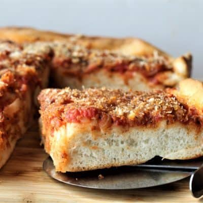 Sfincione Siciliano (Sicilian Style Pizza)