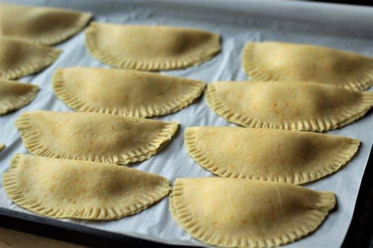Sicilian Cassatelle with Ricotta before baking