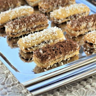 Chocolate Hazelnut and Mascarpone Lady Finger Bites