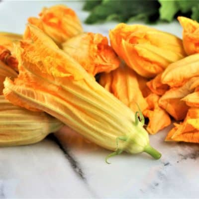 Zucchini Blossoms with Eggs
