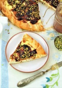 Fig Jam, Ricotta and Pistachio Crostat