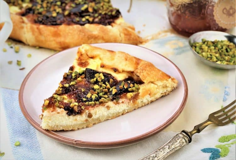 Fig Jam, Ricotta and Pistachio Crostata