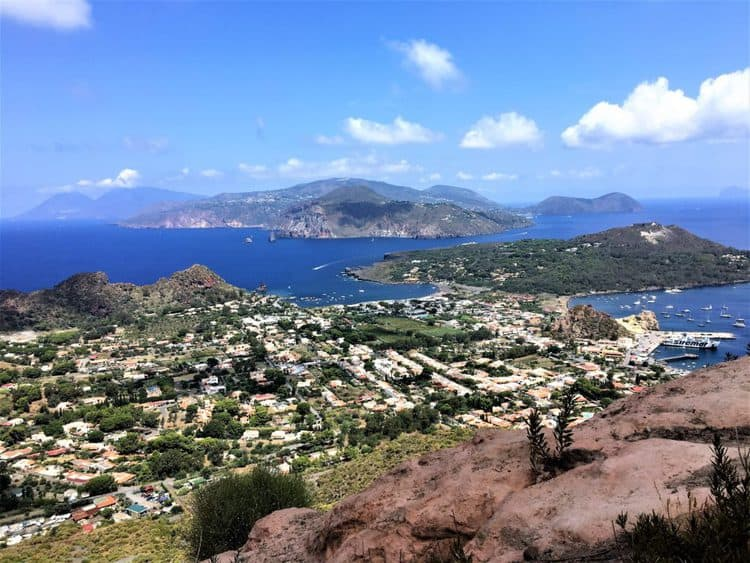 views from the top of Vulcano