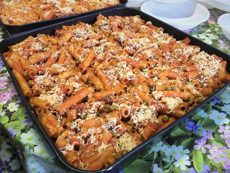 large casserole of pasta al forno