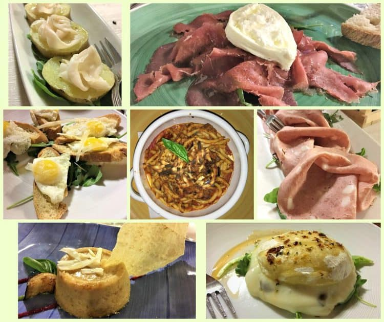 collage of dishes from La Badia Restaurant