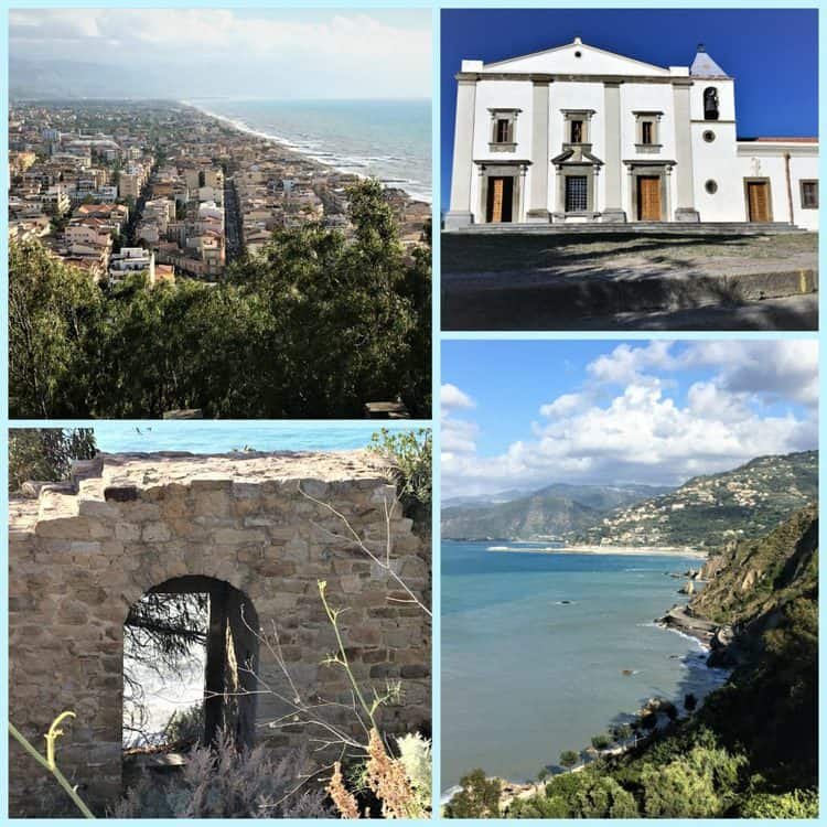 collages with various views of the Monte della Madonna