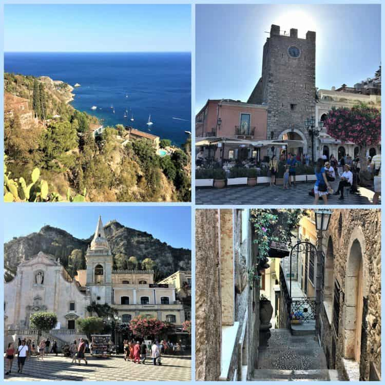 collage of scenes from Taormina