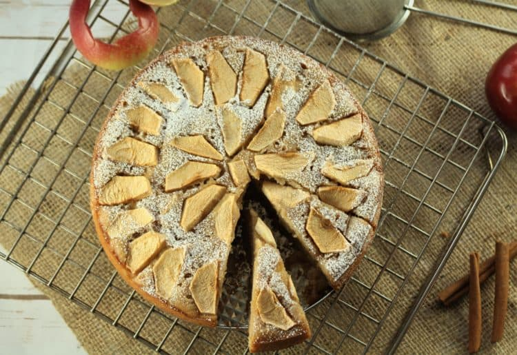 traditional Italian Apple cake with yogurt