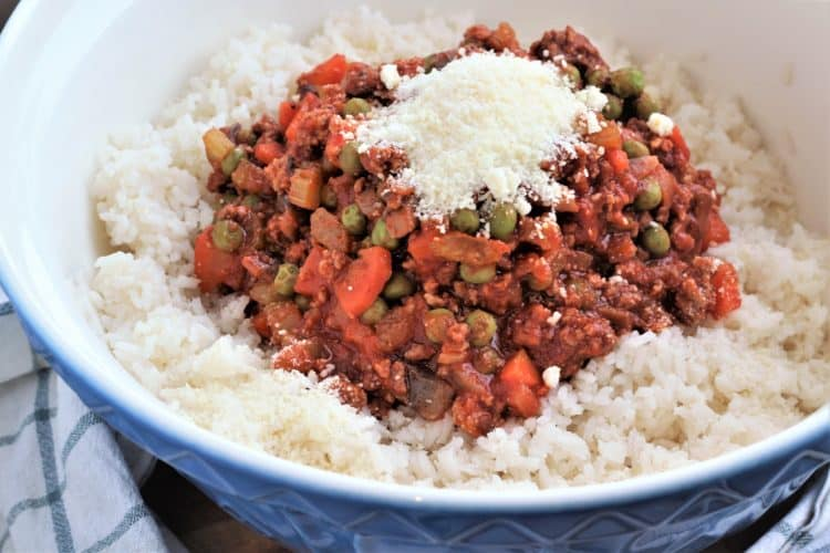 rice and meat sauce mixture for Sicilian Rice Casserole