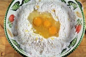 dough for Chiacchiere di Carnevale