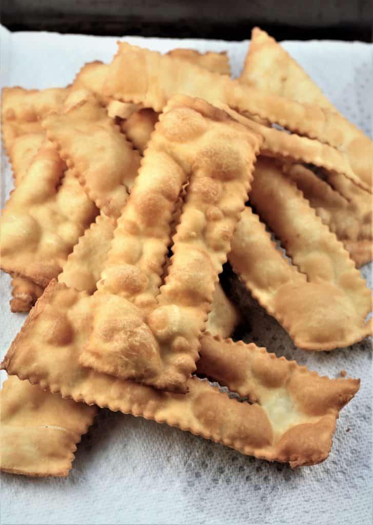 fried Chiacchiere di Carnevale
