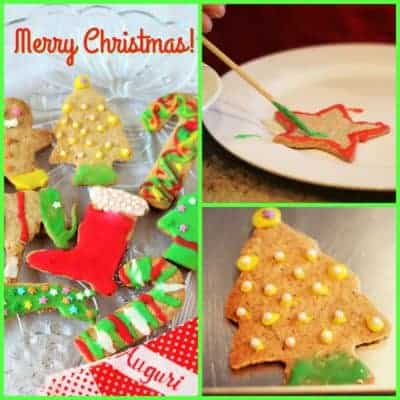 collage of gingerbread cookies