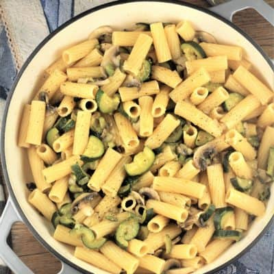 Pasta with Zucchini and Mushrooms