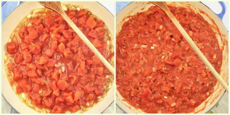 steps for preparing basic tomato sauce