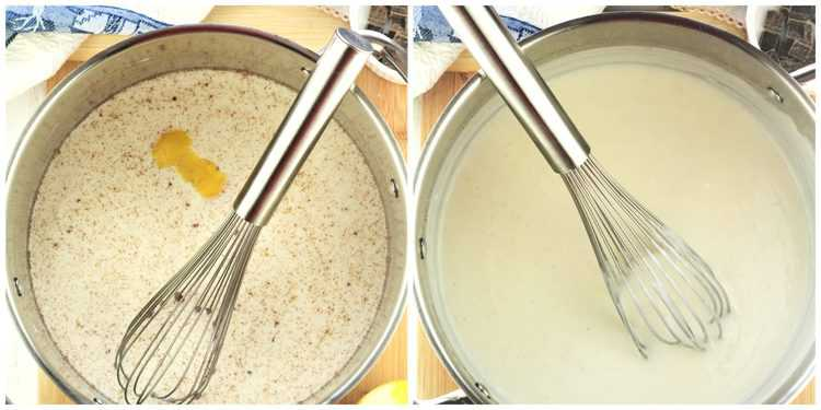 step by step images for making cream with milk