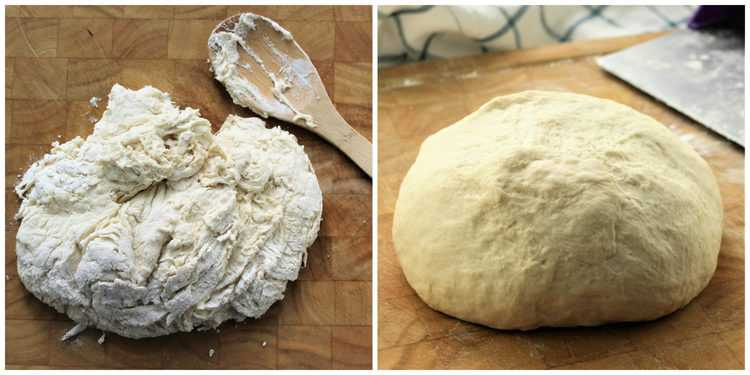 steps in kneading dough until smooth