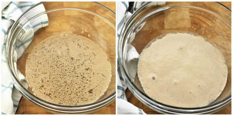 steps in proofing yeast
