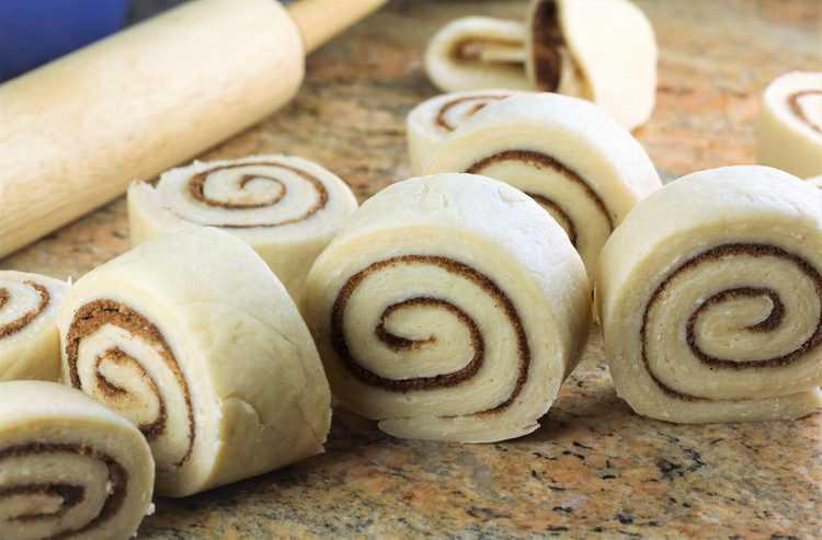 sliced brioche cinnamon roll dough