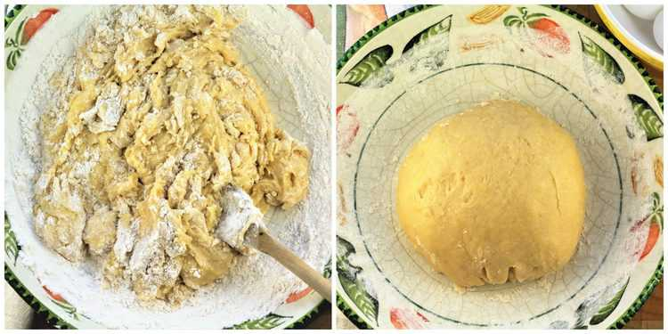 steps for shaping cookie dough