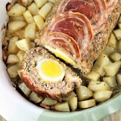 Polpettone with Hard Boiled Eggs (Italian Meatloaf)
