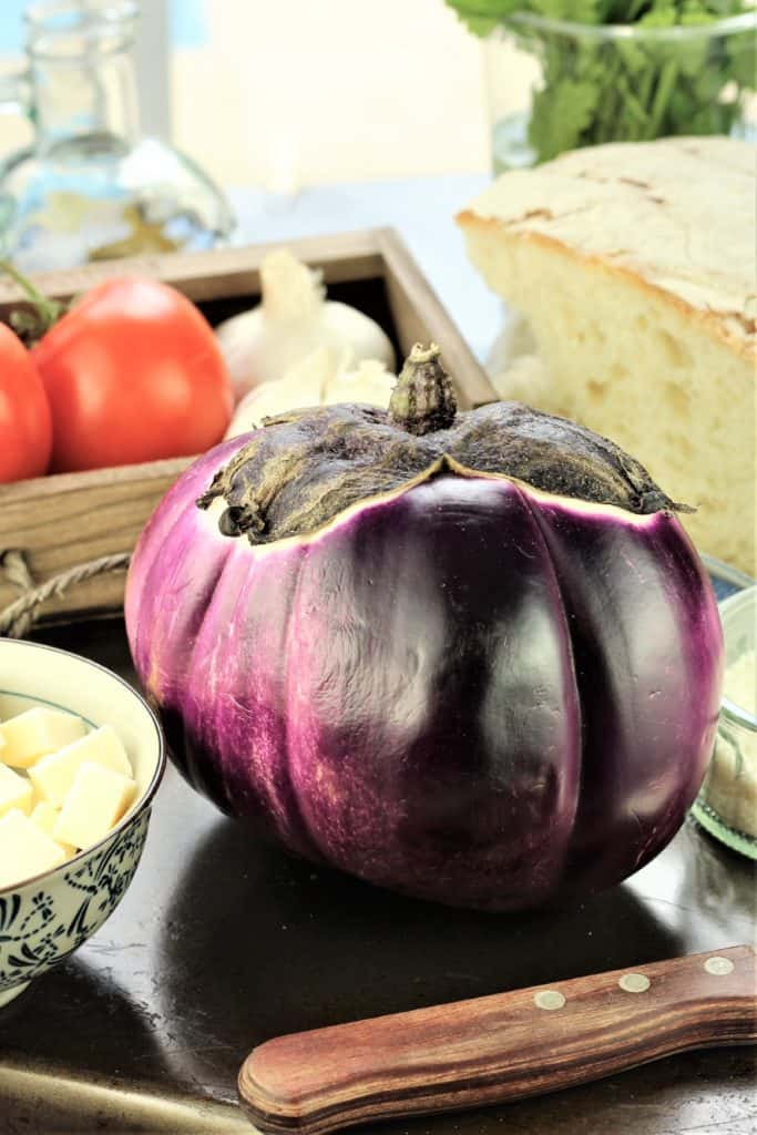 ingredients for Grilled Eggplant Involtini