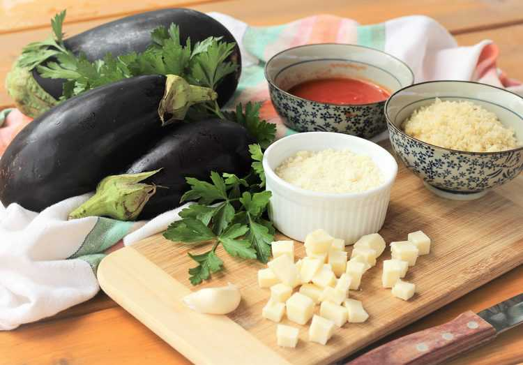 ingredients for Stuffed Baby Eggplant