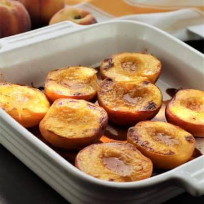 Maple Roasted Peaches
