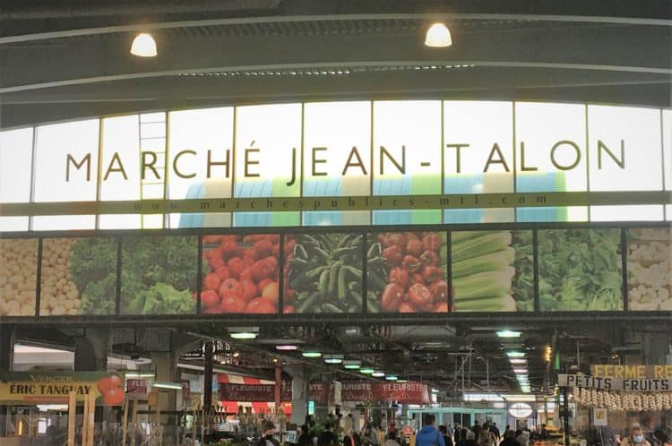 marché Jean-Talon sign