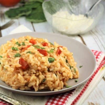 Tomato and Basil Risotto