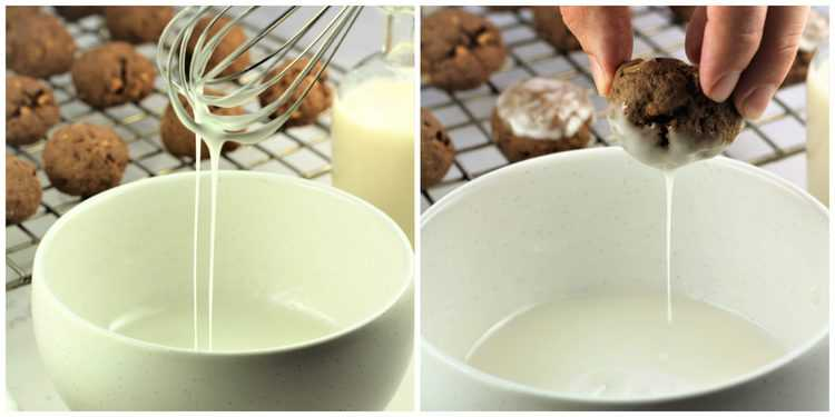 steps for glazing chocolate cookies
