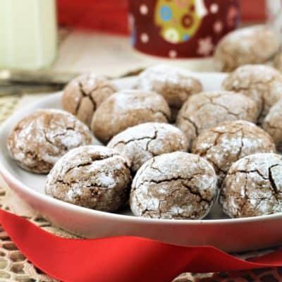 Chocolate Espresso Amaretti Cookies