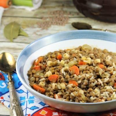 Italian Lentils with Rice