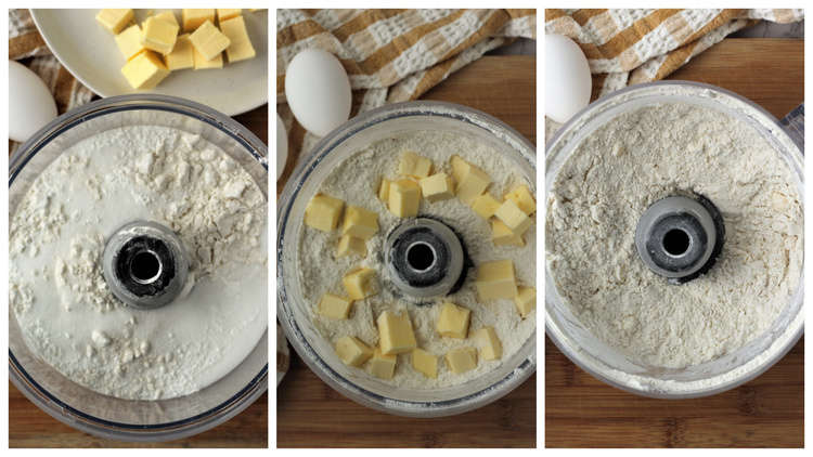 steps for making pie crust in food processor