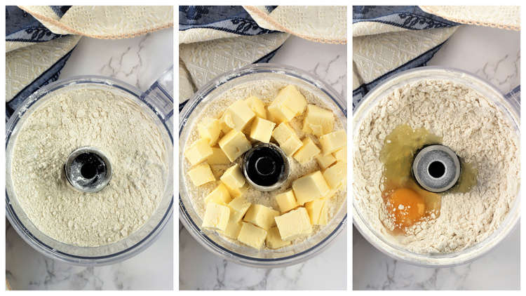 step by step images for making pie dough in food processor