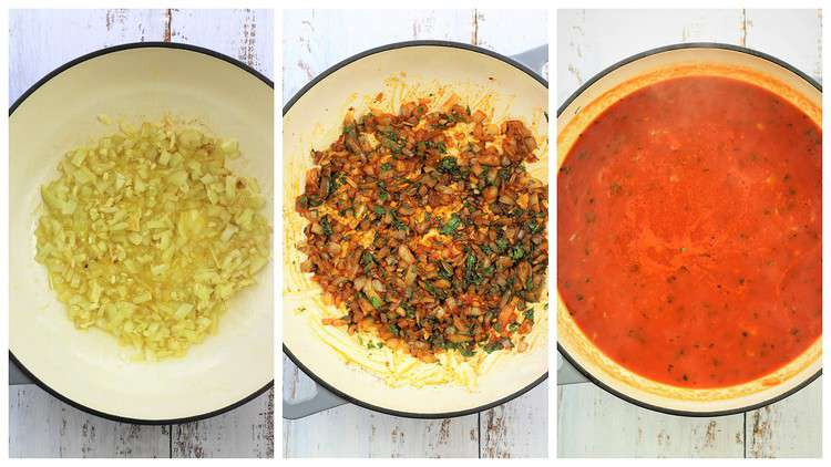 steps for making tomato sauce